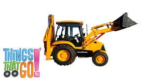 backhoe loader construction trucks for children kids videos