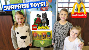 mcdonalds costumes for halloween mcdonalds happy meal surprise toys the lego batman movie youtube