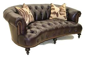 elegant presidential leather sofa old hickory tannery furniture