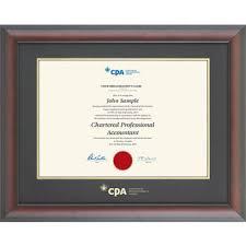 diploma frame cpa qc briarwood mahogany diploma frame qc cpa1418bm icaq