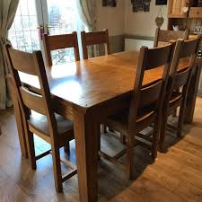 solid oak table with 6 chairs solid oak extendable dining table with 6 chairs in worksop