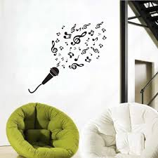 Removable Wall Decals Nursery by Online Get Cheap Wall Decal Microphone Aliexpress Com Alibaba Group