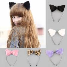fluffy halloween costumes fluffy cosplay halloween party cat faux fox fur ears costume