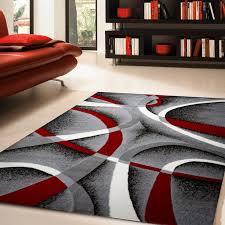 zipcode design katelynn gray white wine red black area rug