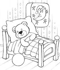 bear sleeping winter coloring coloring pages care bears