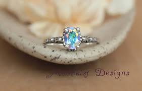 what is a commitment ring opalescent topaz filigree engagement ring in sterling silver