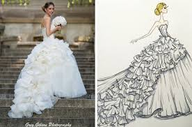custom wedding dress 10 custom bridal illustration keepsakes southbound