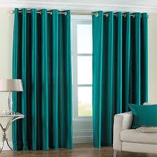 Teal Taffeta Curtains Teal Blue Pair Of Eyelet Taffeta Faux Silk Curtains 90 230cm