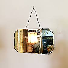 frameless picture hanging large antique art deco geometric frameless hanging wall mirror