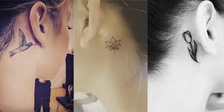 22 small behind the ear tattoos you u0027ll adore