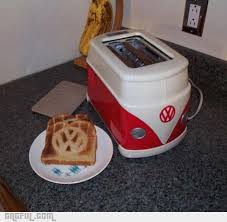 Next Toaster Rare Vw Bus Toaster And Toast For Your Next Hippie Inspired