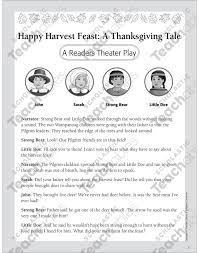 happy harvest feast a thanksgiving tale printable texts and