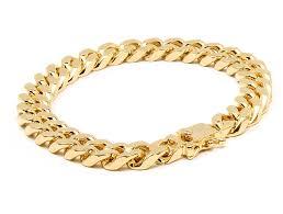 mens gold bracelet links images Mens gold tone heavy 4mm thick cut 9 quot hip hop cuban jpg