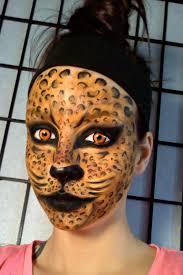 halloween kitty face leopard jungle cat face painting u0026 makeup tutorial youtube