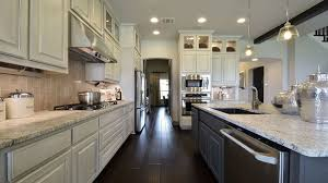 Superior Kitchen Cabinets Burrows Cabinets Kitchen In Bone With Black Glaze And Umber Island