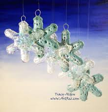 polymer clay snowflakes ornaments resurrected