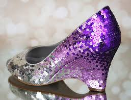 Wedding Shoes Purple Wedding Shoes Sequin Wedding Sequin Bridal Shoes Wedges