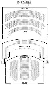 ford center oriental theatre seating chart theatre in chicago