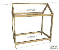 toddler house bed plans house plans