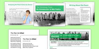 the christmas truce an introduction to war poetry lesson pack