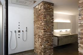 exposed brick wall lighting home designs awesome rooms with exposed brick wall comely white
