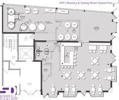 wip brewery u0026 tasting room space plan u2013