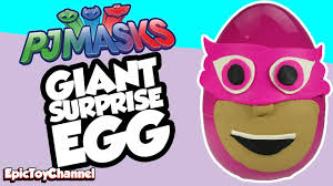 giant surprise egg pj masks play doh surprise egg owlette
