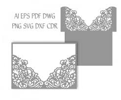 wedding pocket envelopes 5x7 wedding invitation pocket envelope svg template quinceanera