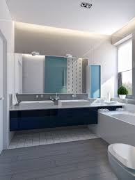 Gray Blue Bathroom Ideas Modern Vibrant Blue Bathroom 1 Interior Design Ideas