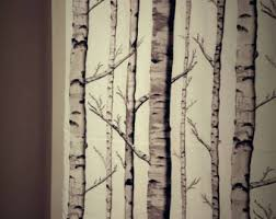 Tree Curtain Birch Tree Curtains Etsy