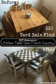 french country 30 yard sale table get u0027s a makeover arts and classy