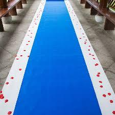 isle runner 20 meters roll royal blue wedding theme nonwoven fabric carpet