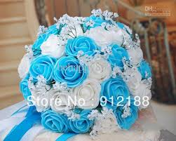 wedding flowers blue and white blue and white wedding bouquet wedding corners