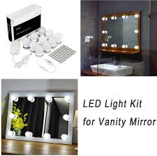 vanity light with plug hollywood style led vanity mirror lights kit for makeup dressing