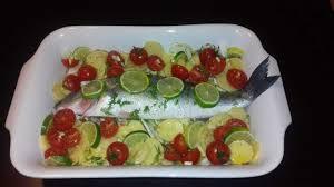 cuisiner le loup bar ou loup de mer petits légumes et citron vert au four recette