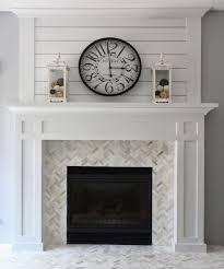 Travertine Fireplace Tile by Best 25 Stone Fireplace Makeover Ideas On Pinterest Corner