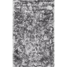 Home Depot Rugs Sale Nuloom Latonia Silken Shag Silver 5 Ft X 8 Ft Area Rug Mhsh01b