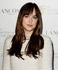 how to get dakota johnsons hairstyle dakota johnson s smooth and straight do long hair with bangs is