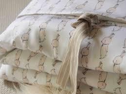 white rabbit organic toddler bedding sweet bunny print duvet