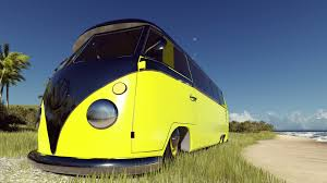 volkswagen kombi wallpaper hd volkswagen beach vw kombi yellow car render wallpapers hd
