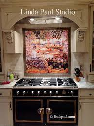 kitchen mural backsplash food markets tile mural of market day in