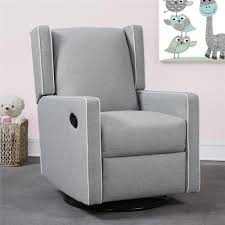 Recliner Rocking Chairs Nursery Baby Knightly Everston Swivel Glider Recliner In Gray Gliders