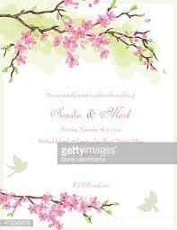 cherry blossom wedding invitations wedding invitation template cherry blossom border with copy