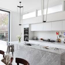 Marble Kitchen Designs 20 Sleek And Serene All White Kitchen Design Ideas To Inspire Rilane