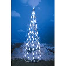 48 white led light string indoor cone tree 61348