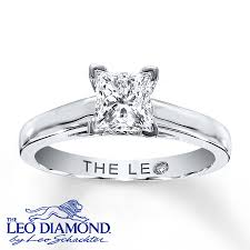 kay jewelers wedding rings kay leo diamond solitaire 1 ct princess cut 14k white gold ring