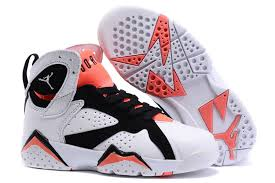 kid jordans kids air 7 retro shoes white black 74967 55