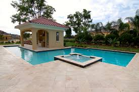 decor u0026 tips awesome outdoor pool with tub and travertine