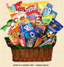 junk food gift baskets junk food gift basket including chips cookies chocolates snacks