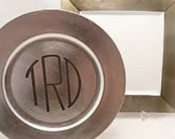 personalized pewter plate pewter charger etsy